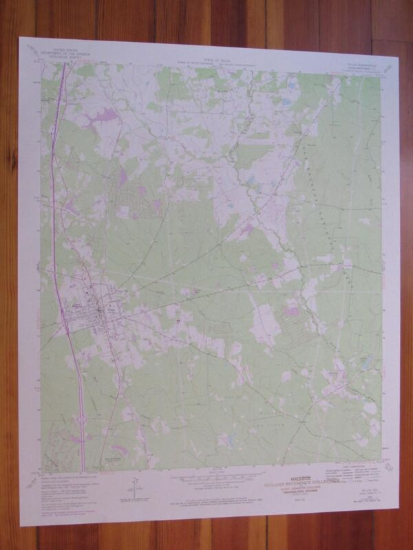 Willis Texas 1978 Original Vintage USGS Topo Map