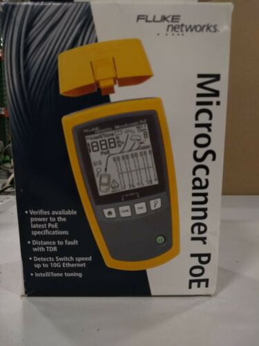 Fluke Networks 5018508 MS-POE MicroScanner Copper Cable Verifier and PoE tester