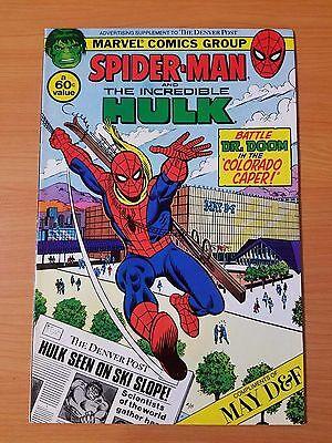Spider Man   Hulk Denver Post Promo   Very Fine   Near Mint   1982 Marvel Comics