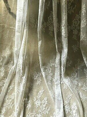 "STUNNING NEW HUGE 60""X98"" VINTAGE FRENCH STYLE NET/LACE CURTAIN PANELS"