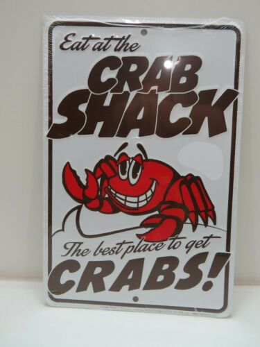 """Crab Shack"" Aluminum Metal Sign 12 X 8 inch - (B4C276)"