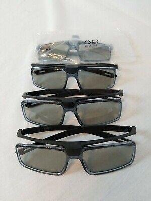 4 PAIR Of Genuine SONY Authentic Passive 3D Glasses