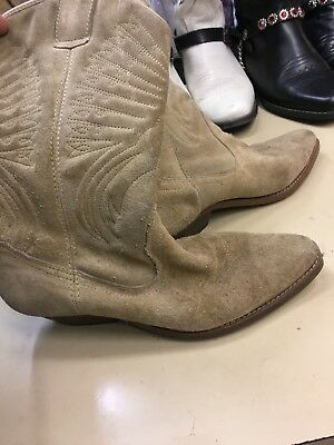 Ladies suede Dolly Parton country  cowgirl Cowboy Boots Size 5 costume fancy](Cowgirl Boots Costume)