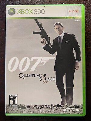 James Bond 007: Quantum of Solace (Microsoft Xbox 360, 2008) w Case Manual Nice!
