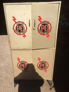 Vintage P&D Ignition Parts Cabinet