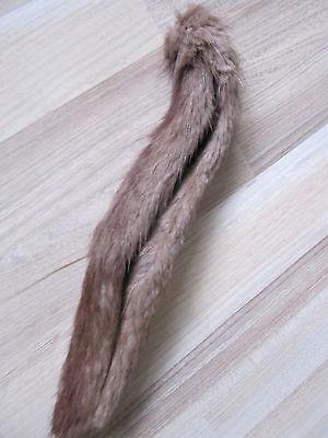 Nerzfell Nerzkragen grau braun schmal ca. 64cm lang 2cm breit