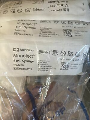 Covidien Monoject 6ml Syringe Pack 20