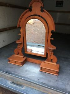 Hutch mirror with drawers