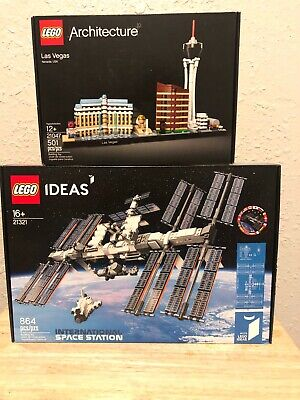 Lego Architecture + Ideas lot of 2: Las Vegas 21047 +. ISS