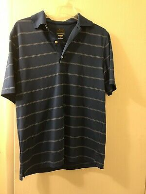 a89a94d04 Greg Norman Men s Golf Polo Shirt Play Dry Size Small. Blue And White