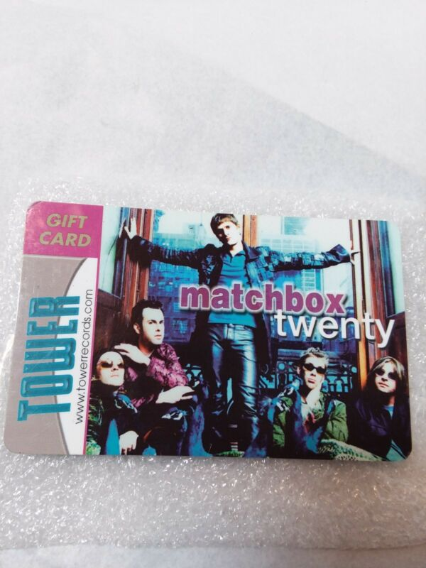 Matchbox 20 Twenty OFFICIAL TOWER RECORDS Music Album Promo GIFT CARD Empty