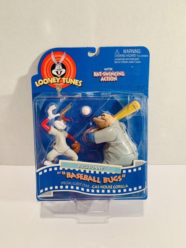 Bugs Bunny & Gas-House Gorilla Baseball Bugs Looney Tunes Figures 1997 Playmates