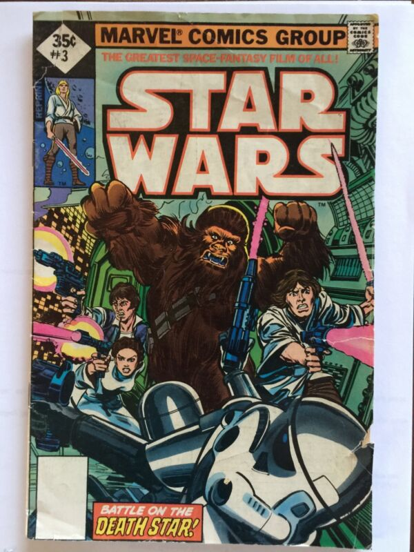 STAR WARS Marvel Comics Group #3 1977 - 35 cents Reprint