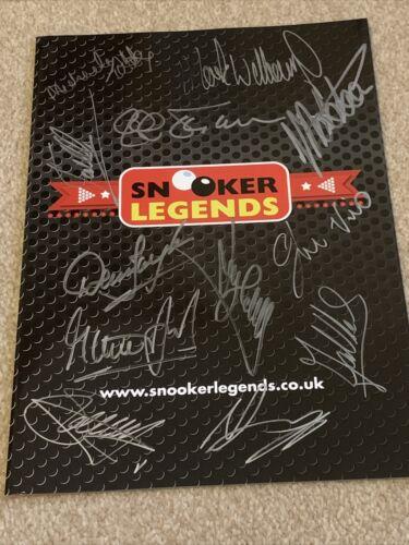 Signed Snooker Legends signed OSullivan, Hendry, Steve Davis, Mark Williams