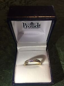 9ct gold diamond eternity ring with channel set brilliant cut diamonds Baulkham Hills The Hills District Preview