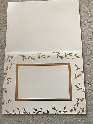 Holiday Photo Card Ivory And Gold 25 With Envelopes ()