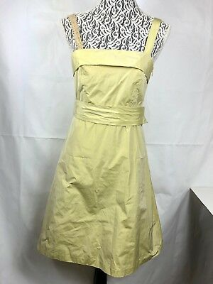 Anthropologie Hoss Intropia NWT women's Dress size 8 Yellow Belted Straps 92P