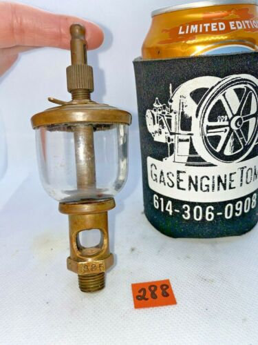 Lonergan Wine Glass Bottom Brass #325 Oiler Hit Miss Gas Engine Antique