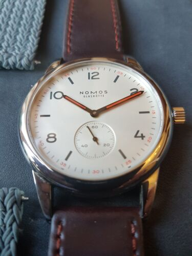 NOMOS Glashutte Club 753 40mm with sapphire case back 100m WR - watch picture 1