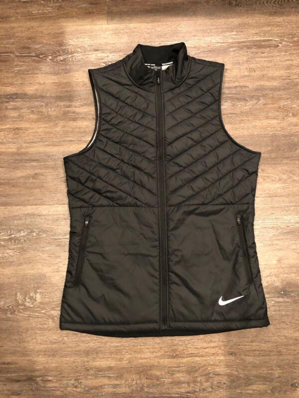 Nike Aeroloft Running Reflective Training Vest - Black Size Medium AH0546-010