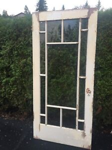 Antique 1908 glass door
