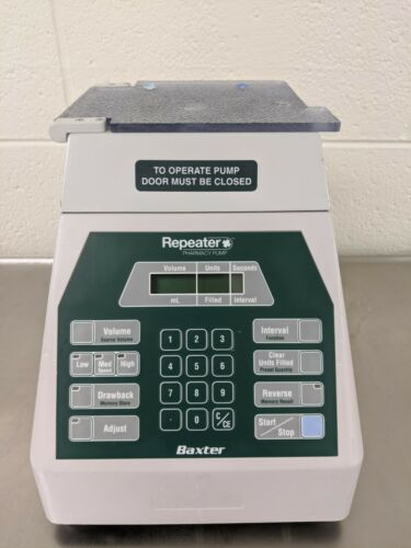 Baxter Repeater Pharmacy 099R Fluid Transfer Pump with power cord and foot pedal