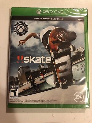 Skate 3 Xbox One + Xbox 360 Sealed! Newest Version W/G2 Case +Game Free Ship