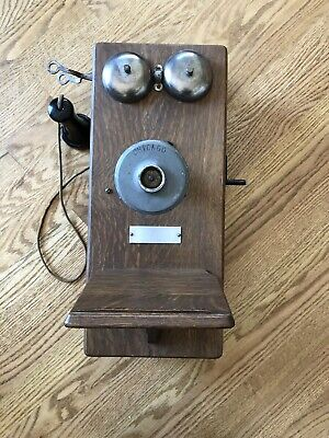 Antique American Electric Chicago Telephone Co Wall Phone