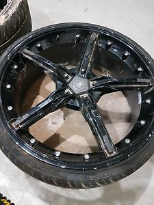 "20"" rims black 5 stud, 70% tread Bonnyrigg Fairfield Area Preview"