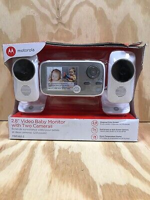 """Motorola MBP483-2 2.8"""" Video Baby Infant Monitor with Two Cameras New"""
