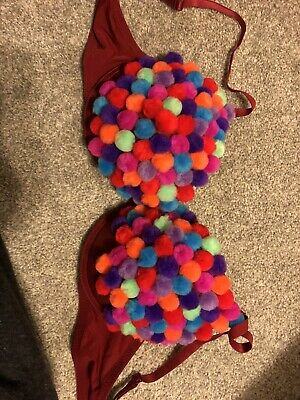 Handmade Gum Ball Machine Bra Costume Custom Cosplay 38C Push-up Gumball Sexy