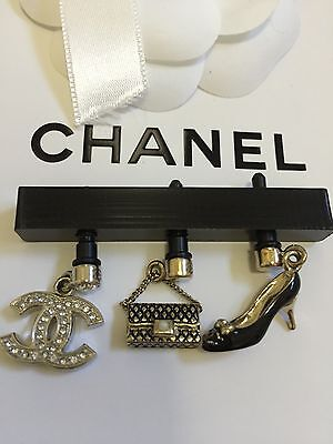 New Authentic Chanel Coco Handbag Heels CC Logo Cell phone Charm