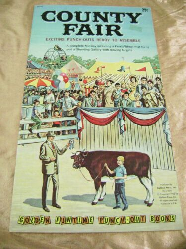 VTG PAPER TOY DOLLS 1962 COUNTRY FAIR GOLDEN FUNTIME PUNCH BOOK UNUSED!!! giant