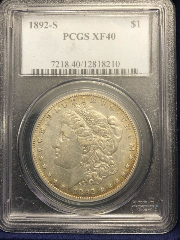 1892-S $1 Morgan Dollar PCGS XF-40