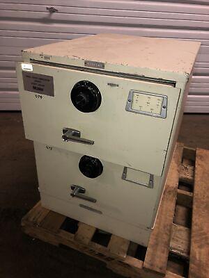 Vintage Mosler 2 Drawer File Cabinet Combination Lock Safefile