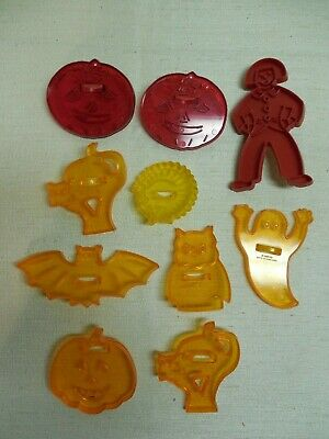 Vintage Lot 10 Fall Halloween Thanksgiving Cookie Cutters