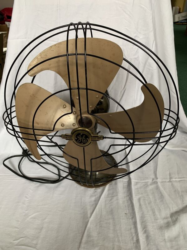 "Vintage GE General Electric Vortalex Fan 17"" original 3 speed works"