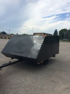 $1650 obo enclosed double snowmobile trailer