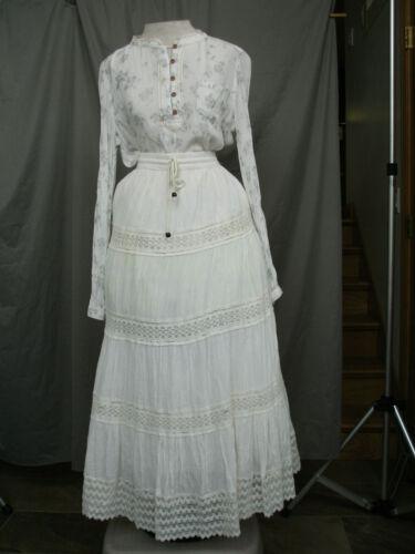 Victorian Dress Edwardian Costume Civil War Reenactment Style Black & White
