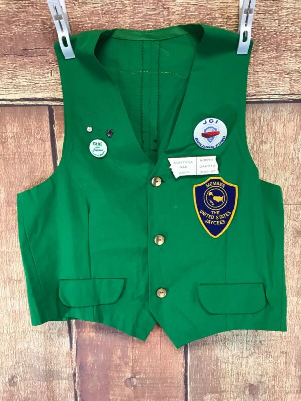 VTG United States Jaycees Member Vest Vermont Size Small