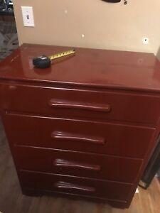 Maroon dresser