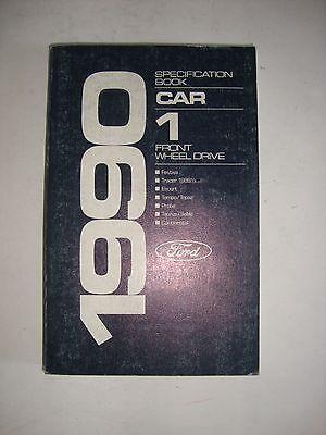 Ford 1990 Car 1 Front Wheel Drive Specification Book Festiva Escort Tempo Topaz