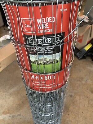 Everbilt 14 Gauge Fencing Wire Welded And Galvanized 2 X 4 Inch Rectangular Mesh