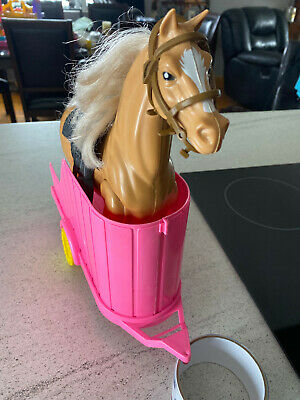 Vintage Barbie Horse with jointed Legs, and Trailer.