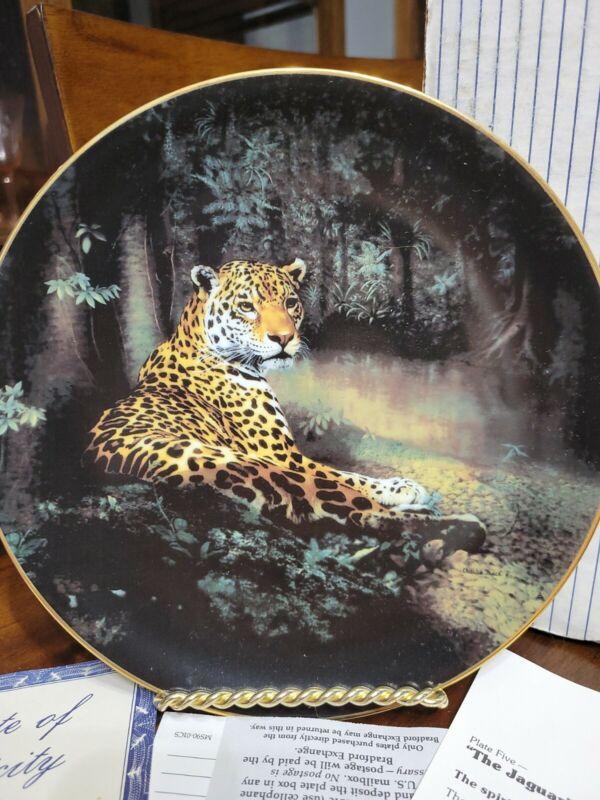"Decorative Plate ""The Jaguar"" 1991 By Charles Fraće"