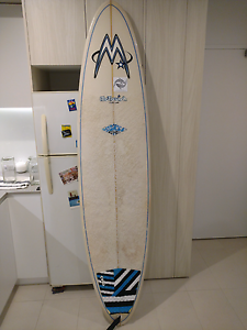 """McTavish Carver 7'6"""" with board bag and leash Coorparoo Brisbane South East Preview"""