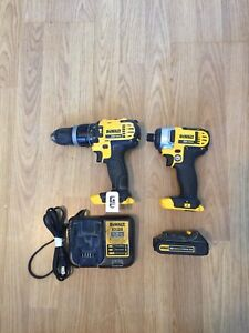 New 20v dewalt impact and used 20v dewalt drill and battery