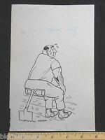 Original Ivan Wilding Tired Farmer/gardener Cartoon (comic Postcard Artist) 1977 -  - ebay.co.uk