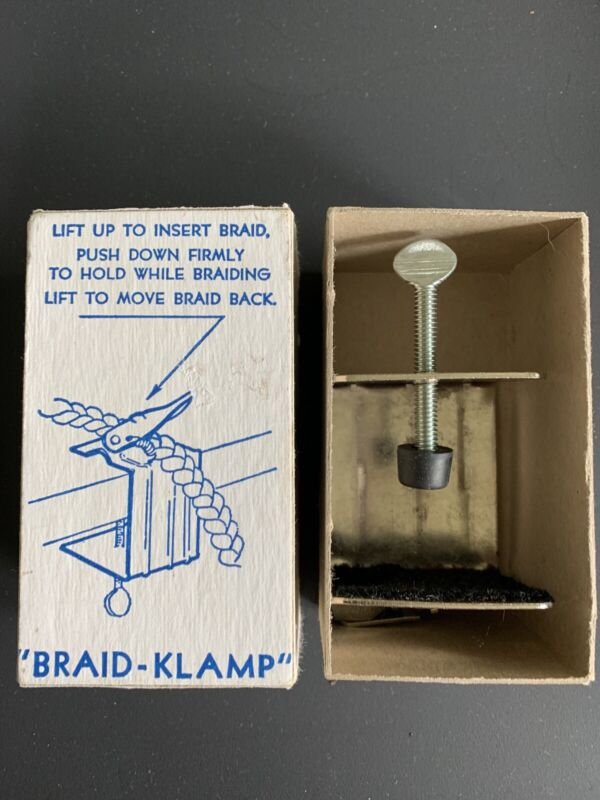 Braid Klamp Vintage Holder for Making Braided Rugs in Original Box Braid-Aid