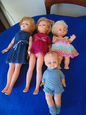 4 X VINTAGE DOLLS PALITOY & ROSEBUD NEED SOME TLC